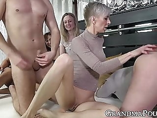 blowjob cumshot group sex